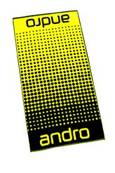 Andro Serviette Dots Noir/Jaune