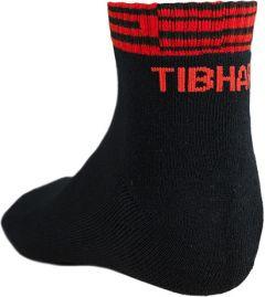 Tibhar Chaussettes Line Noir/Rouge