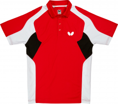 Butterfly Polo Shiro Rouge