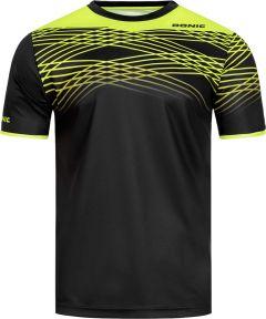 Donic T-Shirt Clix Noir/Fluo Jaune